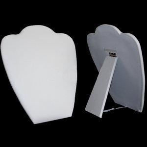 inklapbare hals voor kettingen wit