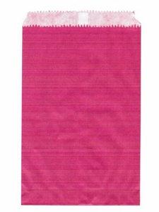 Fournituren zakjes 10x16 cm roze