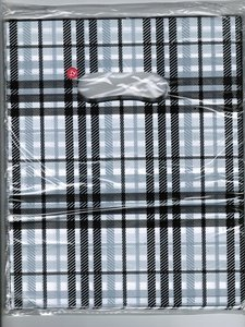 Tasjes 25x20 (100 stuks) zwart/wit ruit