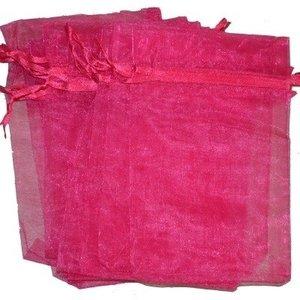 Organza zakjes - fuchsia 10x15 cm -100 stuks / cadeauzakjes
