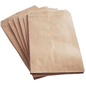 Papieren zakjes / cadeauzakjes 21x30 cm bruin 100 stuks