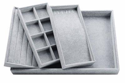 Sieradendoos 4 delig grijs