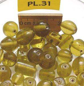 glaskralen geel