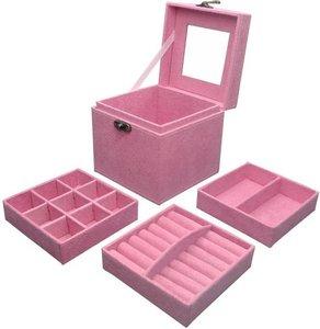 Juwelenkistje licht roze