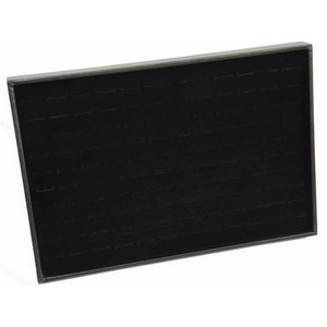 Ring box Black with notches suitable for wide rings