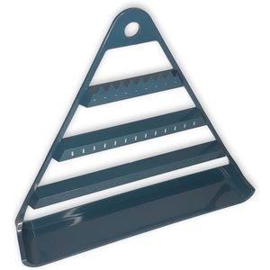 Oorbellenrekje - Driehoek donker blauw 29x5,3x25,5 cm - kunststof