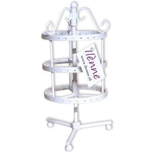 Oorbellenrekje - oorbellen molen wit - 36 paar - 11x11x23 cm