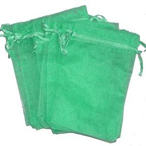 Organza zakjes zee groen